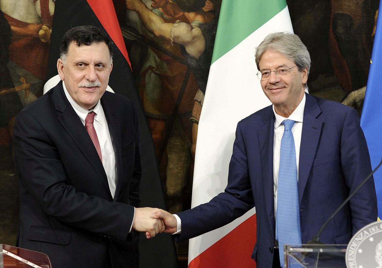 Fayez al-Sarraj e Paolo Gentiloni