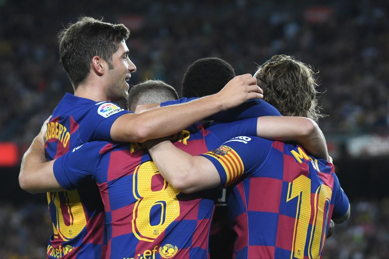 Il Barcellona al Camp Nou