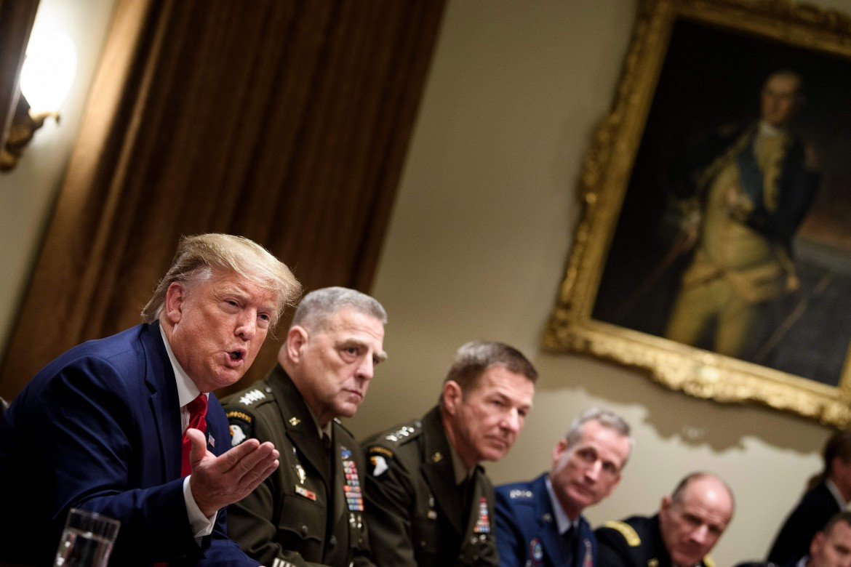 7 ottobre 2019, Trump incontra i vertici militari alla Casa bianca
