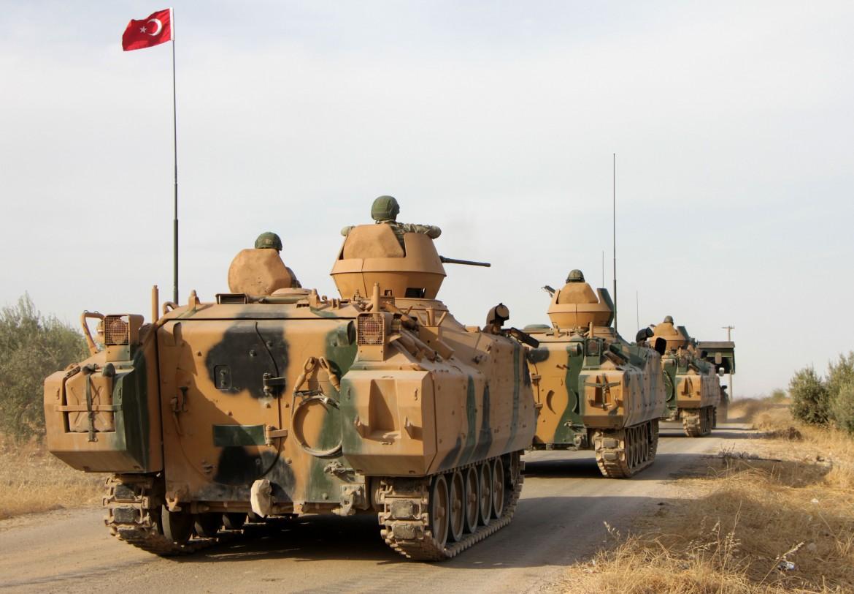 Tank turchi a nord di Manbij
