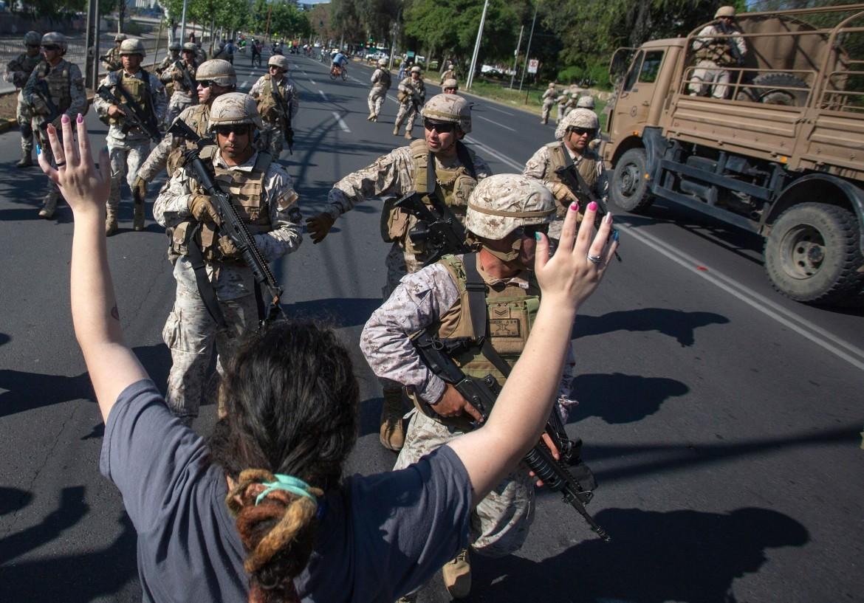 Militari a Santiago del Cile