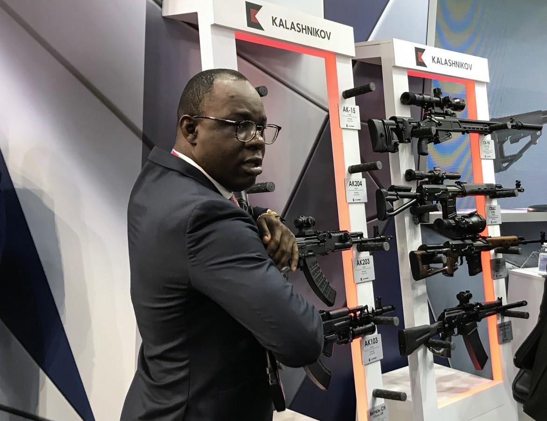 Stand Kalashnikov al Russia-Africa Summit 2019