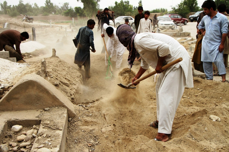 Un funerale a Jalalabad, capoluogo della provincia di Nangarhar