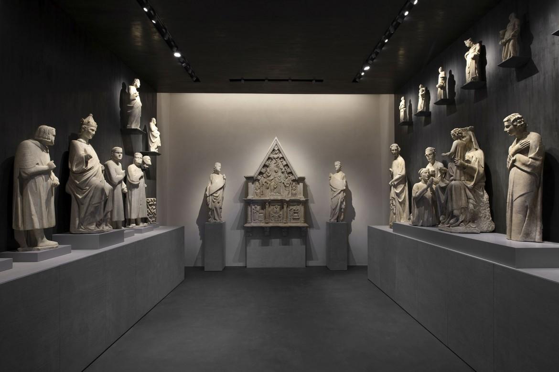La sala 7 del nuovo allestimento del Museo dell'Opera del Duomo di Pisa, dedicata a Tino di Camaino e Lupo di Francesco