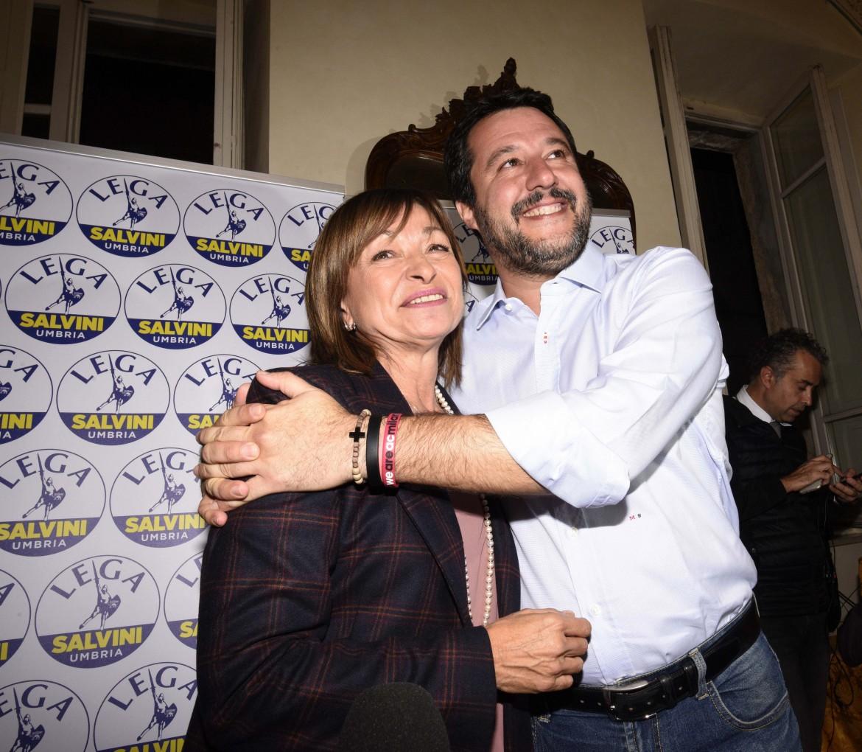 Donatella Tesei con  Matteo Salvini