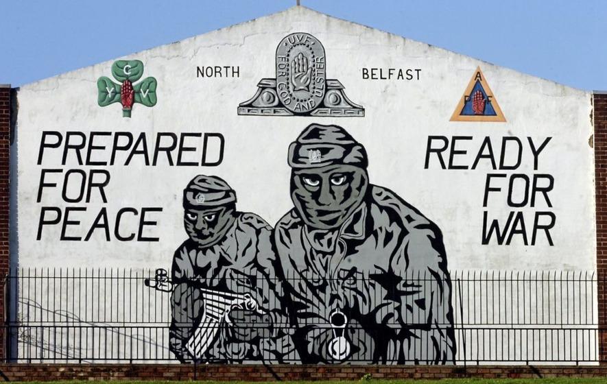 Graffito a Belfast dell'Ulster Volunteer Force (Uvf)