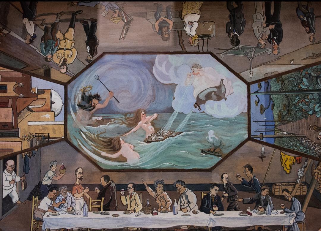 Il vassoio dipinto da Rossi a Ventotene