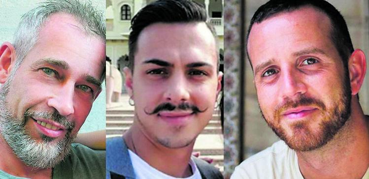I  pompieri morti: Matteo Gastaldo, 46 anni, Antonino Candido, 32 anni,  Marco Triches, 38 anni