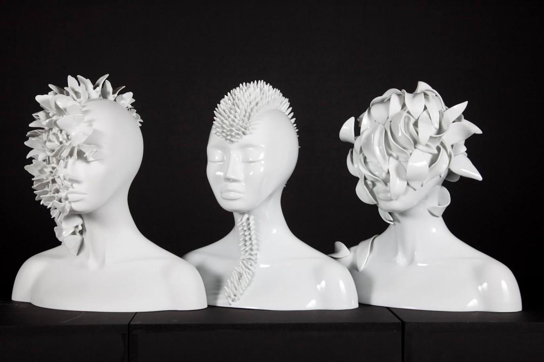 Le sculture «mutanti» in porcellana di Juliette Clovis