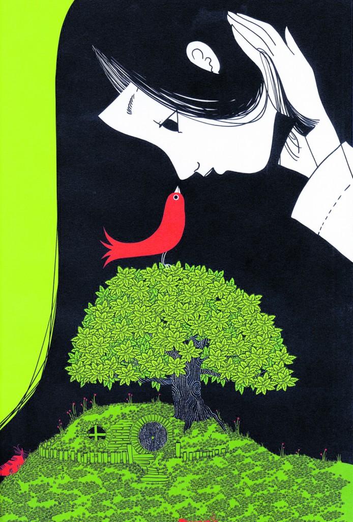 Tavola illustrata di Charlotte Gastaut dal libro «Gli alberi e le loro storie» di Cécile Benoist (Galllucci)