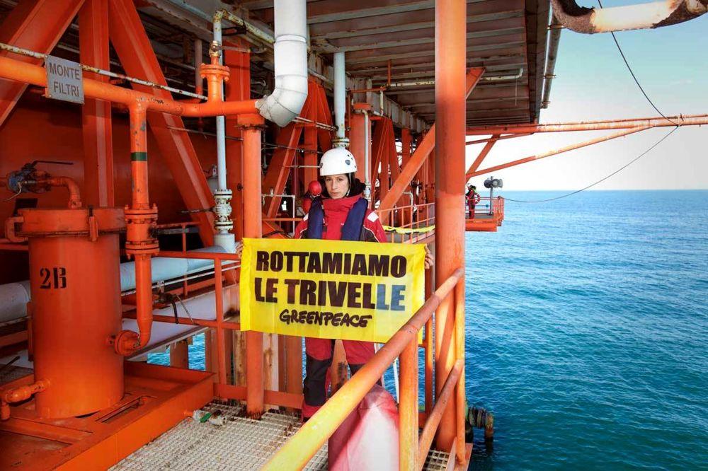Azione dimostrativa di Greenpeace