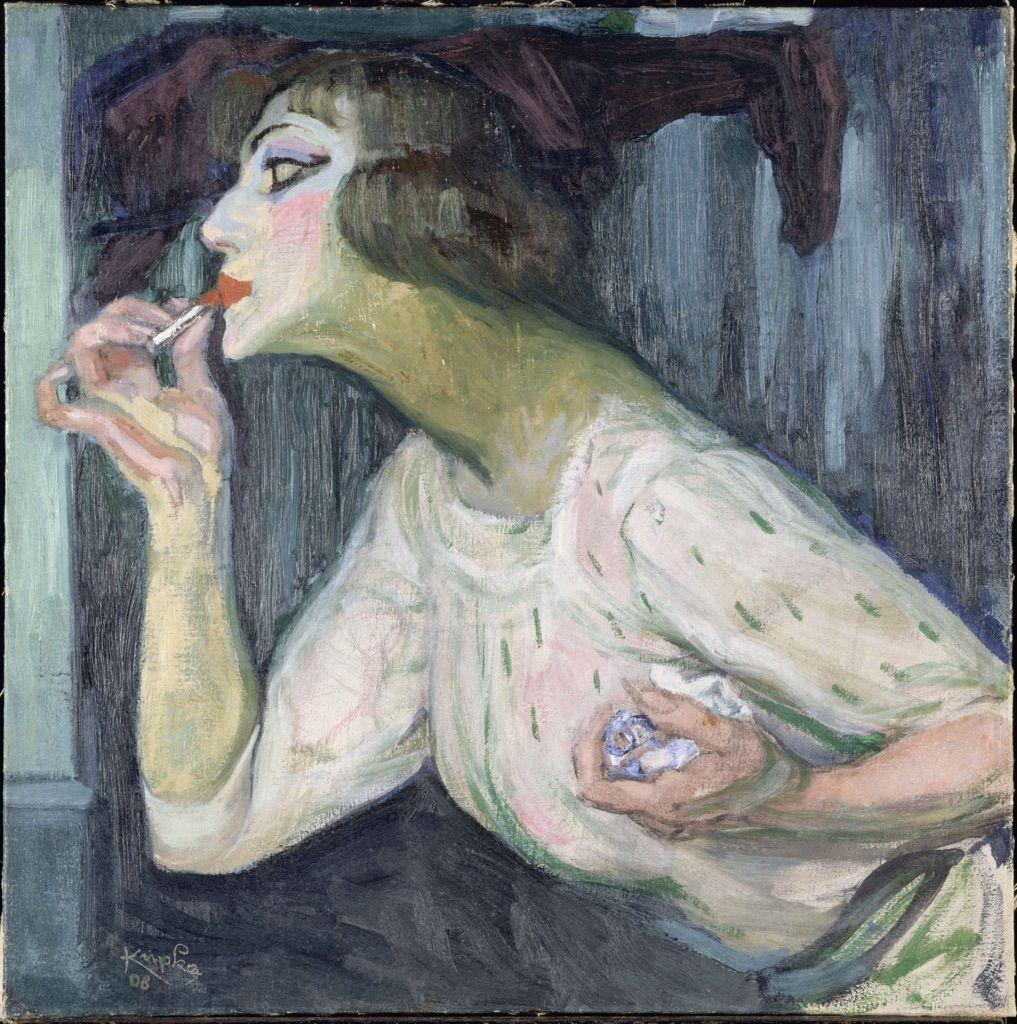 Frantisek Kupka, Il rossetto, 1908, Parigi, Centre Pompidou