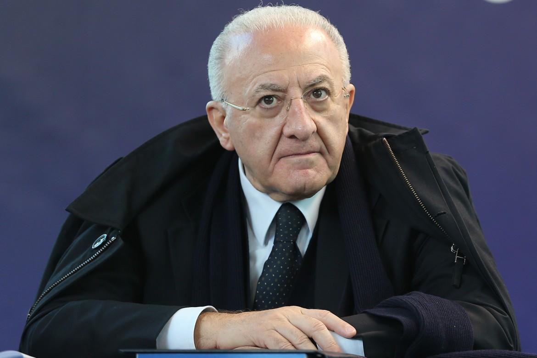 Il presidente della Regione Campania De Luca