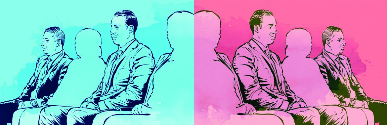 Mahmoud al-Sisi in una illustrazione pubblicata da Mada Masr