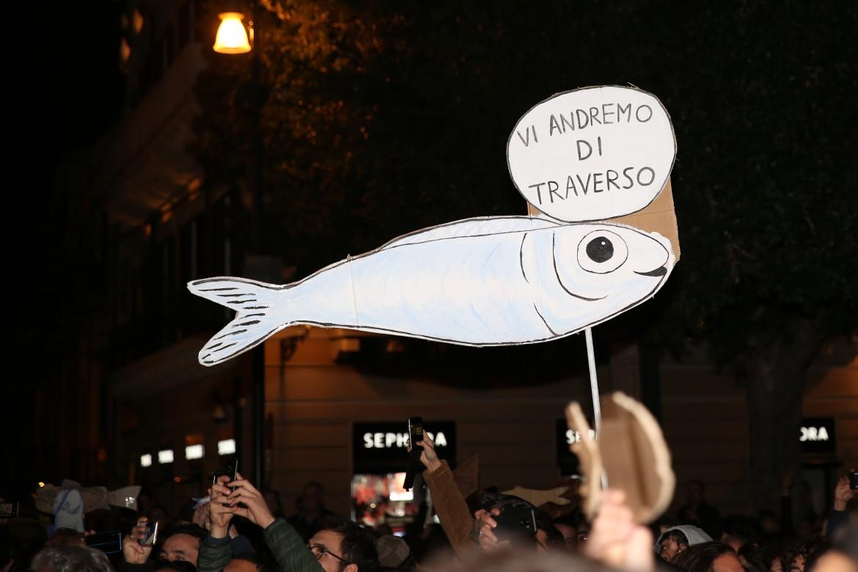 Una manifestazione delle sardine