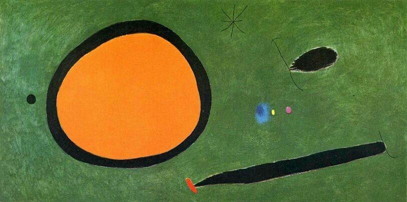 Joan Miró, «Volo d'uccello al chiaro di luna» (1968)