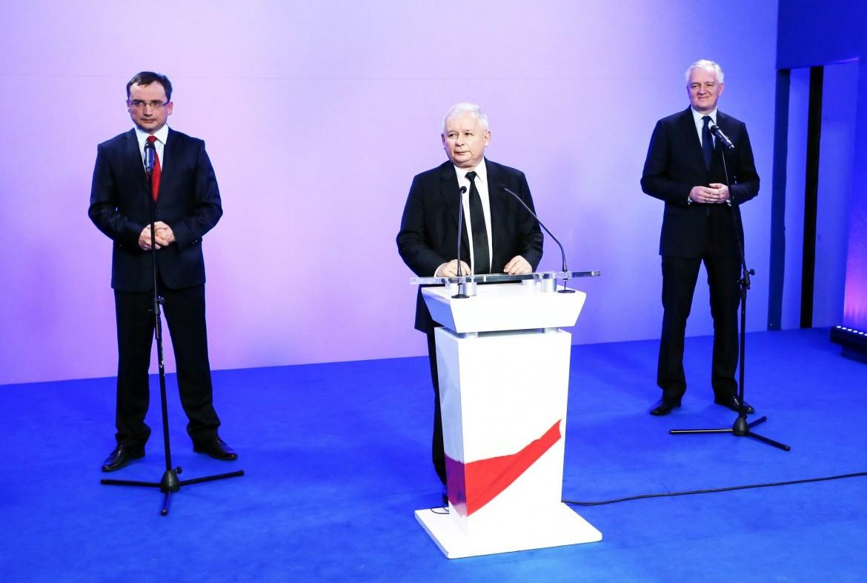 Zbigniew Ziobro, Jarosław Kaczyński e Jarosław Gowin