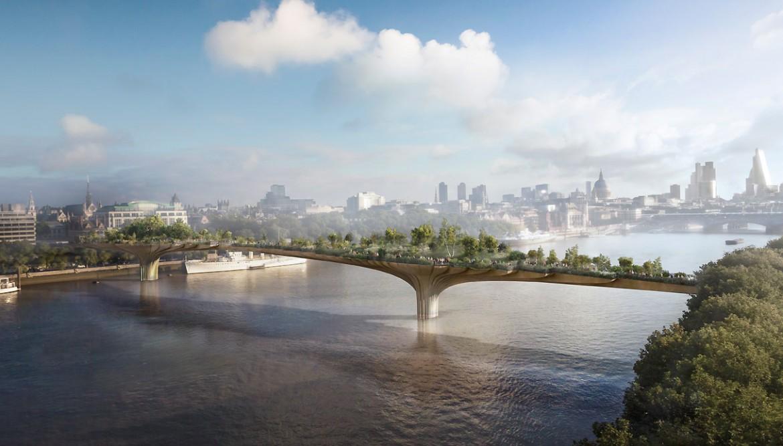 Un altro progetto di Boris Johnson mai realizzato: il ponte giardino di Londra