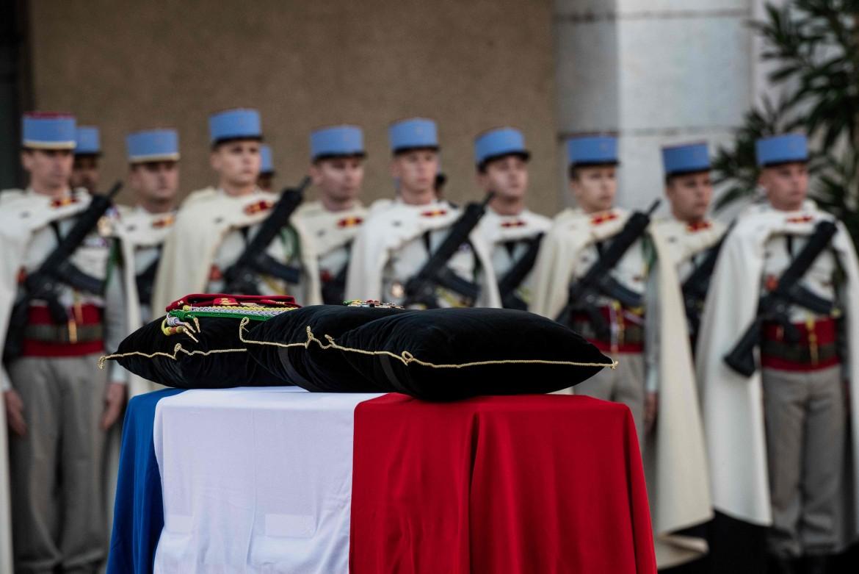 I funerali ieri 6 novembre del brigadiere Ronan Pointeau, ucciso in Mali due giorni prima