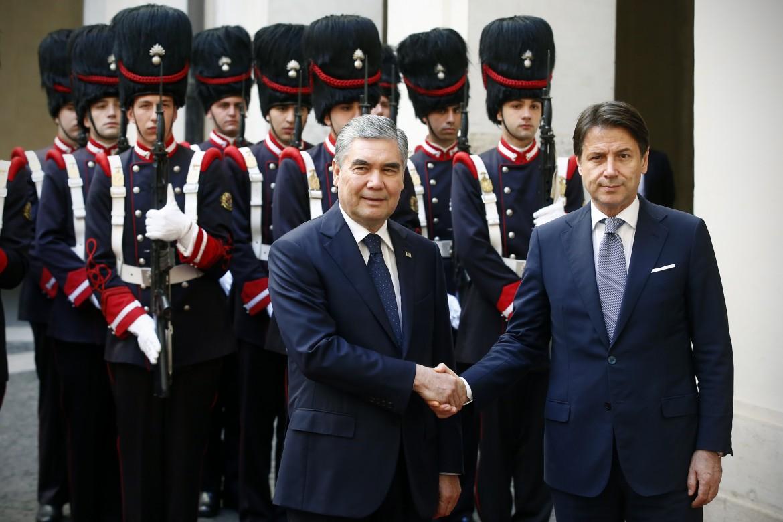 L'incontro tra l Presidente del Consiglio Giuseppe Conte e il Presidente del Turkmenistan Gurbanguly Berdymukhammedov