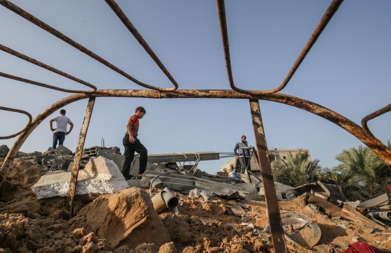 13 novembre 2019, gli effetti dei raid israeliani a Khan Younis