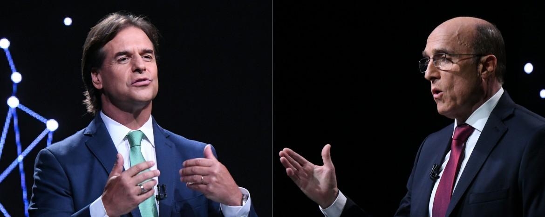 I due candidati al ballottaggio, Luis Lacalle e Daniel Martinez