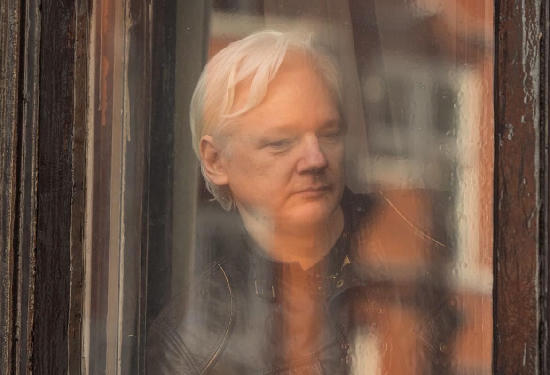 Julian Assange nell'ambasciata dell'Ecuador a Londra