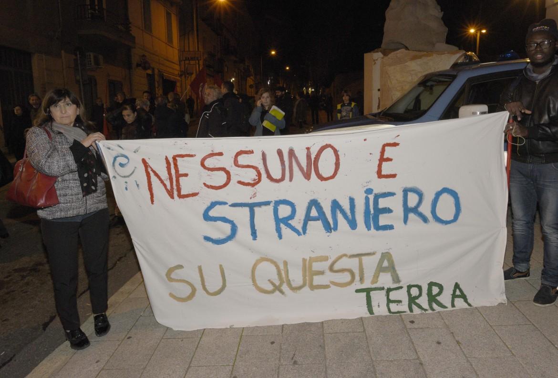 Manifestazione anti Salvini a Nuoro