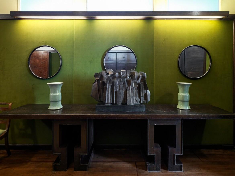 Una delle stanze di Villa Necchi Campiglio a Milano dedicate  alla mostra
