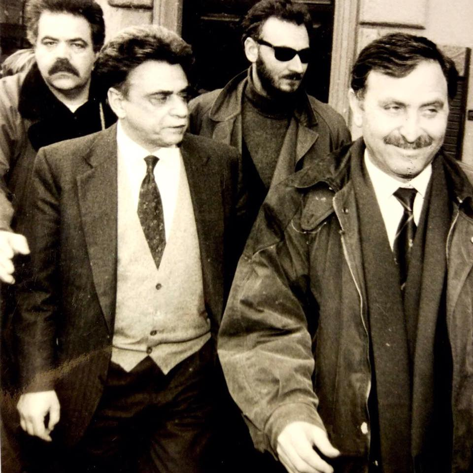 Achille Occhetto con Giancarlo Farini (in primo piano), Mario Giachini (con gli occhiali) e Guido Quaranta