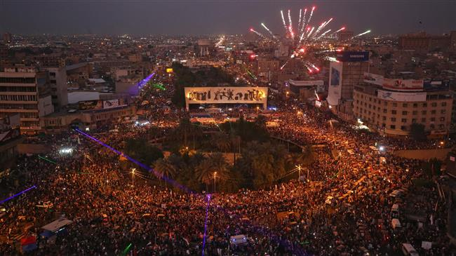 Il presidio permanente di Piazza Tahrir a Baghdad