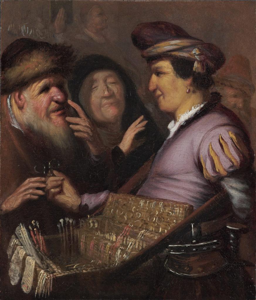 Rembrandt, «Il venditore ambulante di occhiali»