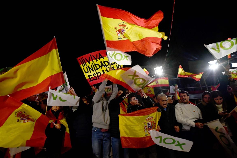 Militanti di Vox a Madrid
