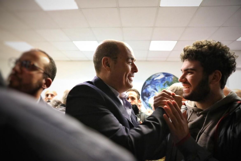 Nicola Zingaretti, segretario Pd, inaugura il nuovo circolo a Magliana, a Roma