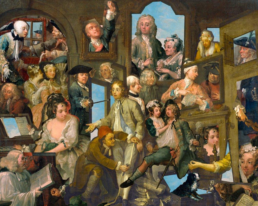 Il patchwork realizzato dal Soane's Museum per la mostra su Hogarth