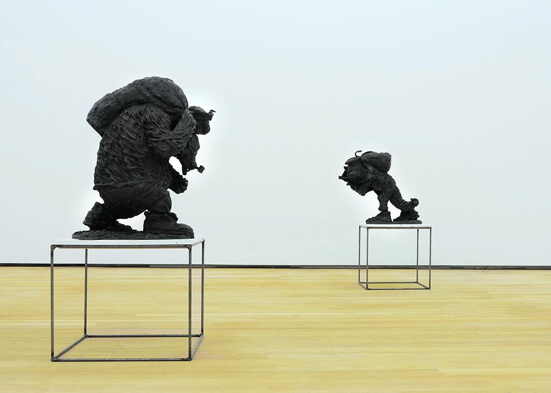 Installazione nella mostra di Peter Wächtler