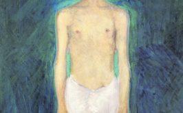 Richard Gerstl Autoritratto seminudo su sfondo blu 1904 05 Vienna Leopold Museum