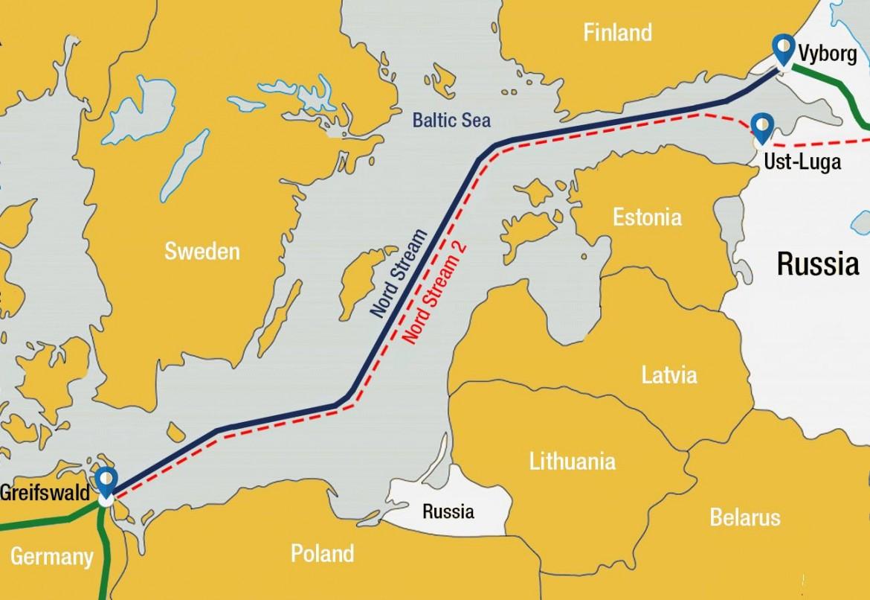 Il percorso del North Stream 2