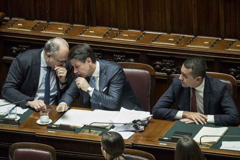 Roberto Gualtieri, Giuseppe Conte e Luigi Di Maio