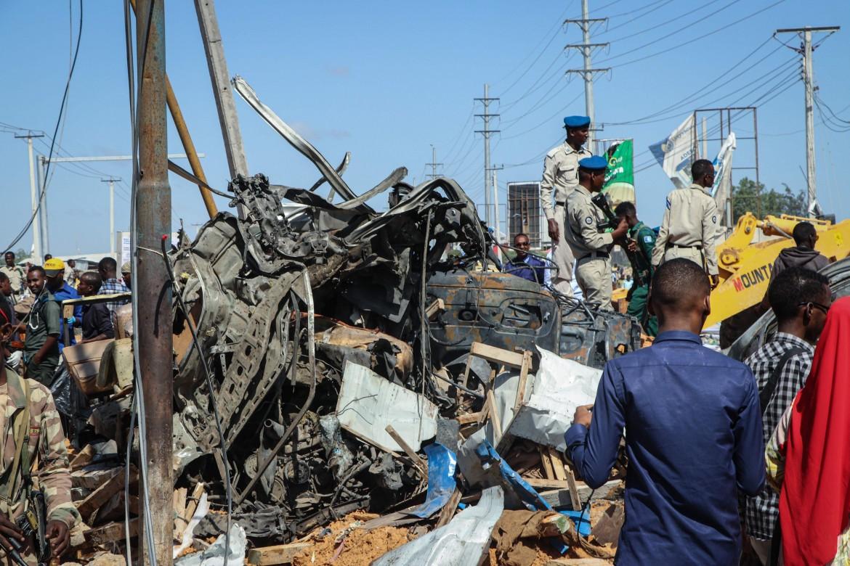 Mogadiscio, il luogo della devastante esplosione avvenuta nella mattina di sabato 28 dicembre