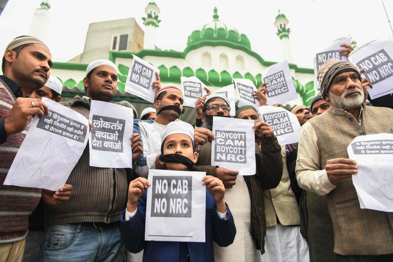 La protesta di ieri, 20 dicembre, di fronte alla moschea di Amritsar