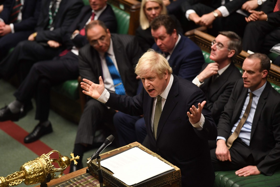 Boris Johnson ieri in parlamento