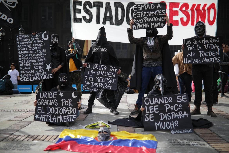 Novembre 2019, protesta contro il governo di Ivàn Duque e gli omicidi di stato a Bogotà