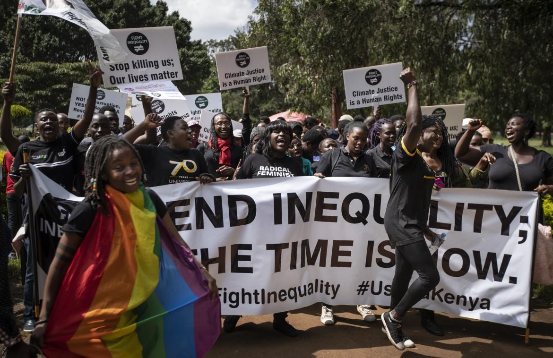 Una manifestazione contro la diseguaglianza