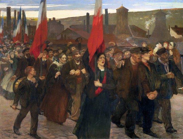 Jules Adler, La Grève au Creusot, 1899