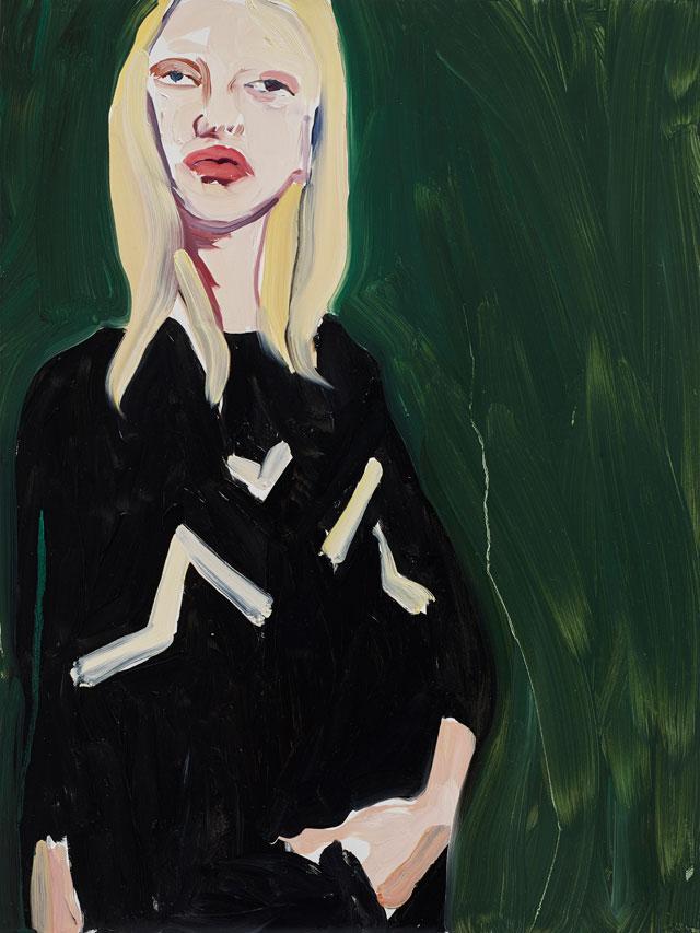 Chantal Joffe, «Blonde in a Black Sweater», 2015