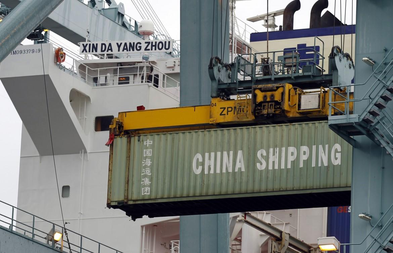 Container in partenza dal territorio cinese