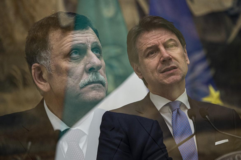 Fayez al Serraj e Giuseppe Conte a Palazzo Chigi