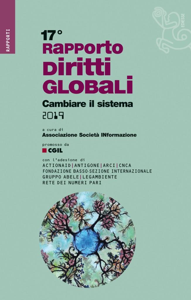 La copertina del Rapporto Diritti Globali 2019