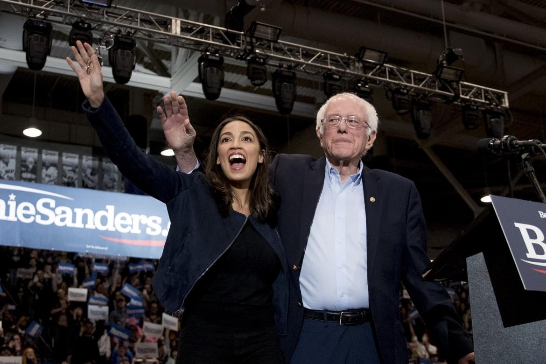 AOC e Bernie Sanders